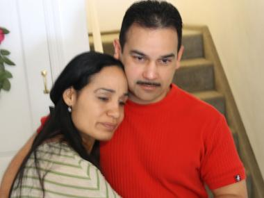 Stephanie Saldana-Sanchez and James Sanchez mourn the loss of their son, Fabian Gonzalez.