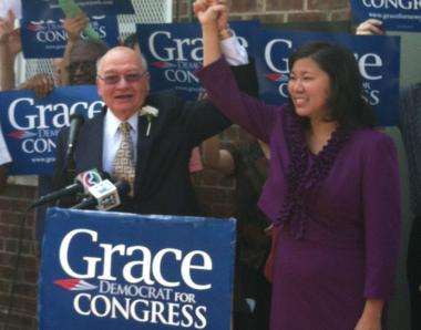 Assemblywoman Grace Meng (right) is running to replace outgoing Congressman Gary Ackerman (left).