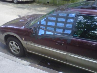 At least six cars had their passenger or driver-side windows damaged along Park Terrace West, between Isham and West 215th streets, on May 29, 2012, witnesses said.