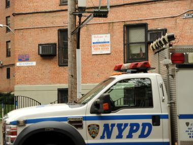 Police arrested the man accused of firing a shot that hit a 15-year-old girl in the Queensbridge North Houses in Long Island City Sunday Sept. 23, 2012.