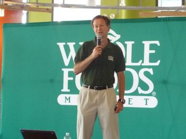 Whole Foods co-CEO John Mackey at an event at the Tribeca store Tuesday.