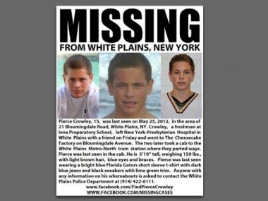 Thousands worked feverishly to find Pierce Crowley, 15, after he had gone missing on Friday, May 24, 2012.