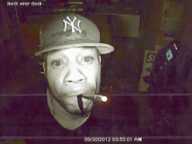Burglary suspect police say has broken into five shops in Brooklyn between May 11 and May 30, 2012.