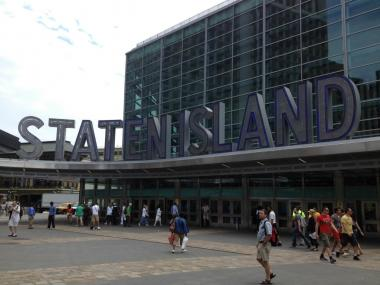 A small fire broke out at the Whitehall Terminal of the Staten Island Ferry on Fri., June 1, 2012.