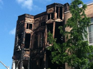 A fire on June 1, 2012, left the upper floors of 147 Conselyea Street gutted.