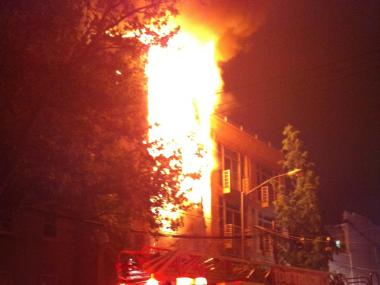 Fire at 147 Conselyea Street in Williamsburg on June 1, 2012.