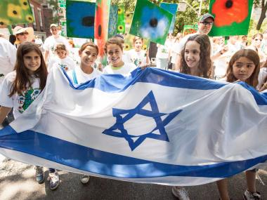 Children enjoy the annual Celebrate Israel Parade on June 3rd, 2012.