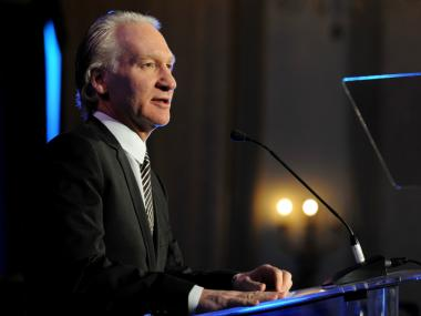 Bill Maher speaks onstage at a Cinema For Peace event in Los Angeles in January. Maher announced Sunday that he bought a minority stake in the New York Mets.
