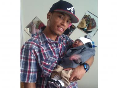 Ackeem Green, 25, and his son, Carmelo Ackeem. The father was shot and killed on June 3, 2012.