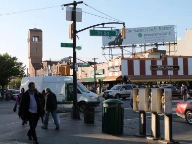 The intersection of 31 Street and Ditmars Boulevard is one of the busiest in Astoria