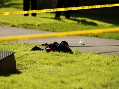 Clothing items and blood from the jumper remained at the scene on June 5, 2012.