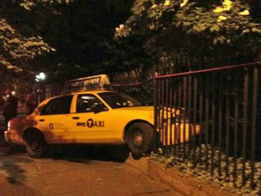 A taxi slammed into the historic fence surrounding Gramercy Park in late May 2012. The subsequent repairs are expected to cost nearly $48,000.