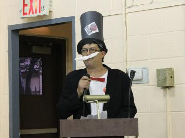 Several opponents came dressed in costumes, including one as Rich Uncle Pennybags from Monopoly.
