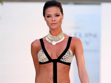 Caitlin Kelly unveiled her new swimwear collection on June 6.