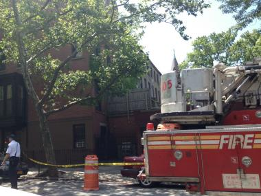 Emergency crews were called to 98 Sixth Ave. after reports of an unstable structure at the address on Thursday, June 7, 2012.