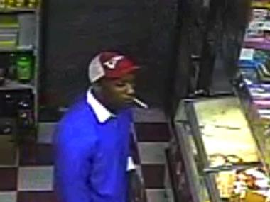 The man suspected of robbing a Crown Heights deli at gunpoint.