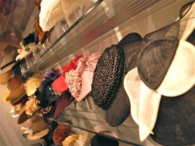 Rows and rows of hats were ready to be tried on in Suzane Couture Millinery  as 6c27703f9d6d
