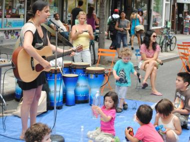 A performer played at last year's street festival.