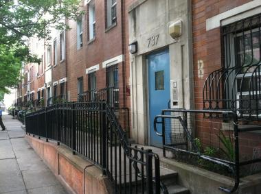 737 East 5th St, where a man was found stabbed on Saturday, June 9, 2012.