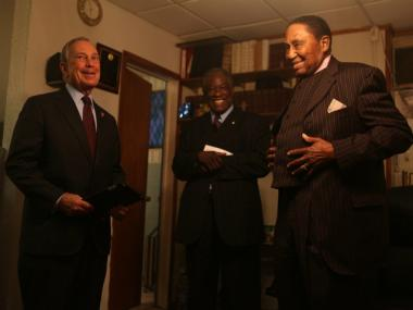 Mayor Bloomberg at the First Baptist Church of Brownsville on June 10, 2012