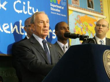 Mayor Michael Bloomberg touted the numbers as evidence that schools continue to improve.