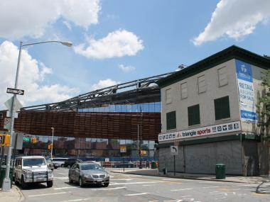 The Barclays Center, which is still under construction, is slated to open in September 2012.