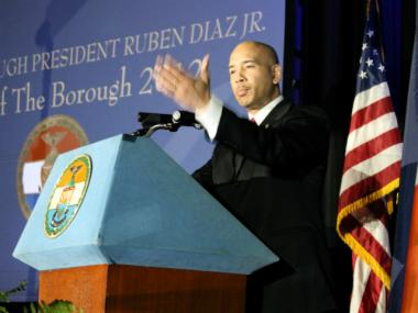 "Bronx Borough President during the 2012 State of the Borough address. This week, Diaz penned an angry retort to an article that he said ""libeled"" The Bronx."