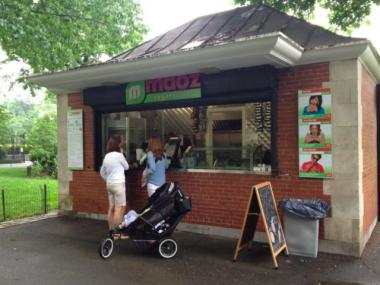 Maoz Vegetarian opened at the end of May at Central Park's Harlem Meer.