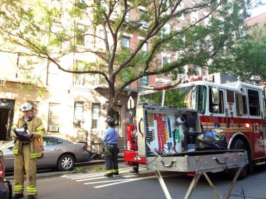 More than 100 firefighters responded to a blaze at 444 E. 88th St. Thursday, June 14, 2012, FDNY officials said.