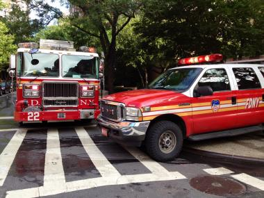 More than 60 firefighters responded to a basement blaze at a six-story apartment building Kips Bay early Tuesday, May 19, 2012, FDNY officials said.