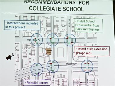 The Department of Transportation has proposed a series of curb extensions around Collegiate.