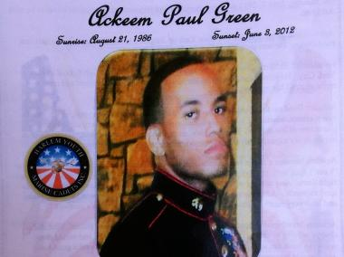 A funeral was held for Ackeem Green, 25, on June 14, 2012. He was gunned down on a basketball court in Harlem earlier in the month.