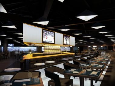 A rendering of the 40/40 Club's Barclays Center location.