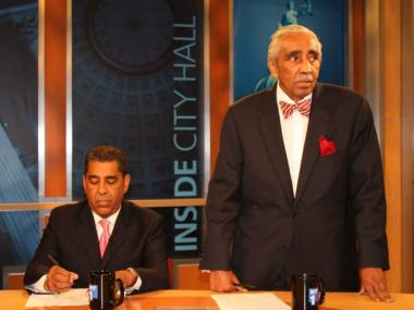 Rep. Charlie Rangel and State Sen. Adriano Espaillat faced off during the debate on ethics and Washington.