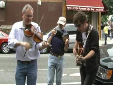 "Irish musicians celebrate Bloomsday, honoring James Joyce's ""Ulysses,"" in Brooklyn."