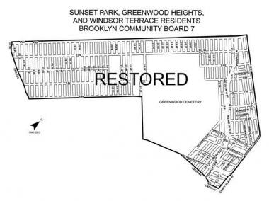 Alternate-side parking was restored east of Brooklyn's Fourth Avenue in Sunset Park and Greenwood Heights.