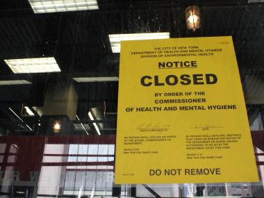 Officials from the Health Department closed the BK Whopper Bar after it failed two inspections in June 2012.