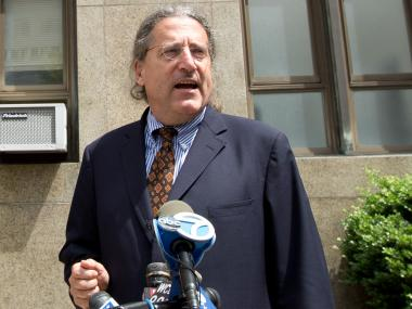 "Norman Pattis, lawyer for accused ""Millionaire Madam"" Anna Gristina, speaks outside of Manhattan Criminal Court"