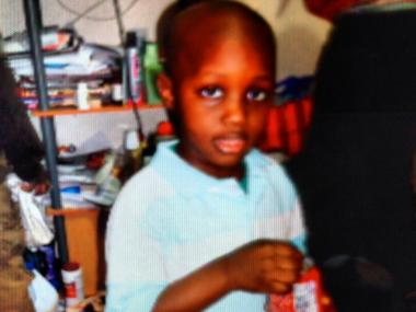 Ebrahim Kebe, 4, who was struck and killed by a minivan outside his home in the Mount Hope section of The Bronx June 19, 2012.