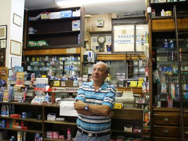 Frank Cammarata at Goodrich Pharmacy, which he said he is closing after decreasing insurance reimbursements have made it too difficult to stay in business.