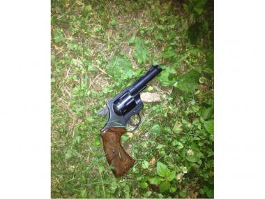 Sean Terrell, 17, allegedly fired this revolver at a group of men standing on Madison Avenue near 113th Street in Harlem late Tuesday, June 19, 2012.