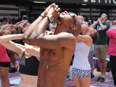 "Riverside Church will host an evening full of big names in the world of yoga and fitness in the first ever ""Gospel of Sweat"" session, dreamed up by Lululemon Athletica."