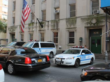 Police often park their personal cars on West 54th and 55th streets, near the Midtown North Precinct station.