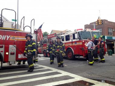 A fire broke out at 533 E. Second St., at Courtelyou Road, on Friday, June 22, 2012.