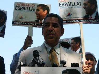 "State Sen. Adriano Espaillat had warned that the redrawing of Rangel's longtime seat would spark a ""nuclear political war."""