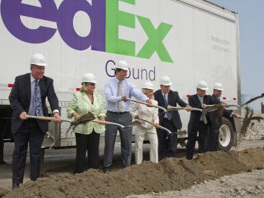 FedEx broke ground on its new $56 million facility