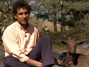 Cyrus Fakroddin first got a goat in 2006 to clear poison ivy from his yard. His pet goat Cocoa is a major part of his life now.