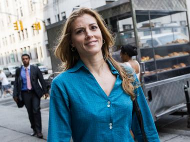 Jaynie Mae Baker arrives at Manhattan Supreme Court on June 29th, 2012.