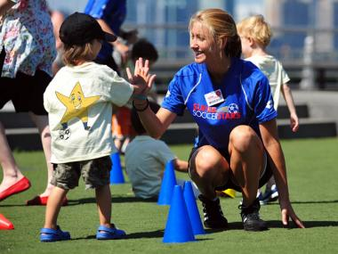 Super Soccer Stars camps feature age-specific curriculum.
