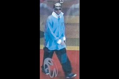 A man photographed here is suspected of committing a robbery June 29, 2012 of the Resorts World Casino in Queens.